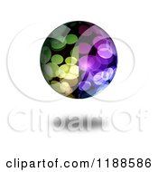 Clipart Of A 3d Colorful Orb With Flares And A Shadow Royalty Free CGI Illustration