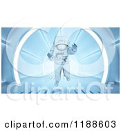 Clipart Of A 3d Astronaut Floating In A Tunnel Royalty Free CGI Illustration