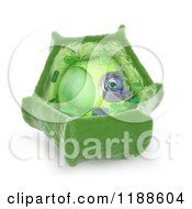 Clipart Of A 3d Plant Cell Model Royalty Free CGI Illustration