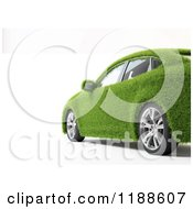 Clipart Of A 3d Green Grass Car Over White Royalty Free CGI Illustration