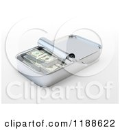 Clipart Of A 3d Sardine Can Full Of Cash Royalty Free CGI Illustration