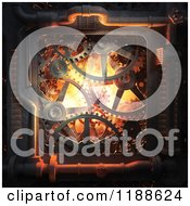 Clipart Of 3d Gears And Cog Wheels With Pipes Royalty Free CGI Illustration by Mopic
