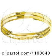 Clipart Of A Gold Wedding Band Royalty Free Vector Illustration by Lal Perera