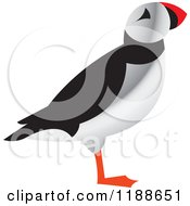 Clipart Of A Puffin Bird In Profile Royalty Free Vector Illustration by Lal Perera
