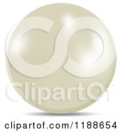 Clipart Of A Shiny White Pearl Royalty Free Vector Illustration by Lal Perera