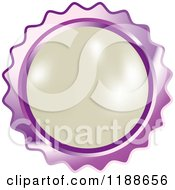 Clipart Of A Round White Pearl In A Purple Setting Royalty Free Vector Illustration by Lal Perera