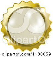 Clipart Of A Round White Pearl In A Gold Setting Royalty Free Vector Illustration by Lal Perera