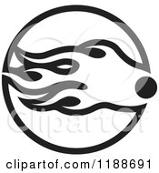 Clipart Of A Black And White Comet Icon Royalty Free Vector Illustration by Lal Perera