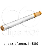 Whole Cigarette Clipart Illustration