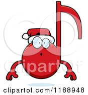 Cartoon Of A Surprised Christmas Music Note Mascot Royalty Free Vector Clipart