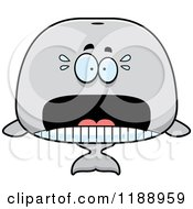 Cartoon Of A Scared Whale Mascot Royalty Free Vector Clipart