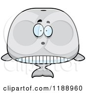 Cartoon Of A Surprised Whale Mascot Royalty Free Vector Clipart
