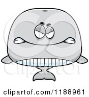 Cartoon Of A Mad Whale Mascot Royalty Free Vector Clipart