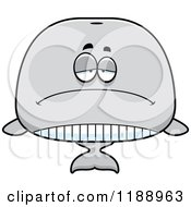 Cartoon Of A Depressed Whale Mascot Royalty Free Vector Clipart