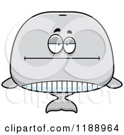 Cartoon Of A Bored Whale Mascot Royalty Free Vector Clipart