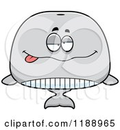 Cartoon Of A Drunk Whale Mascot Royalty Free Vector Clipart