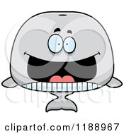 Cartoon Of A Grinning Whale Mascot Royalty Free Vector Clipart