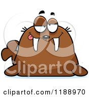 Cartoon Of A Drunk Walrus Mascot Royalty Free Vector Clipart by Cory Thoman
