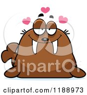 Cartoon Of A Loving Walrus Mascot Royalty Free Vector Clipart by Cory Thoman
