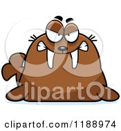Cartoon Of A Mad Walrus Mascot Royalty Free Vector Clipart by Cory Thoman
