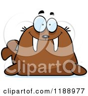 Cartoon Of A Happy Walrus Mascot Royalty Free Vector Clipart by Cory Thoman