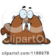 Cartoon Of A Surprised Walrus Mascot Royalty Free Vector Clipart by Cory Thoman