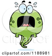 Cartoon Of A Scared Tadpole Mascot Royalty Free Vector Clipart by Cory Thoman