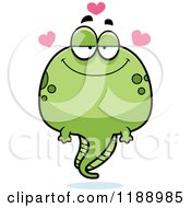 Cartoon Of A Loving Tadpole Mascot Royalty Free Vector Clipart by Cory Thoman