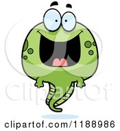 Cartoon Of A Happy Grinning Tadpole Mascot Royalty Free Vector Clipart by Cory Thoman