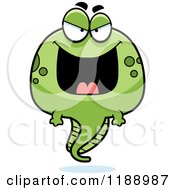 Cartoon Of A Grinning Evil Tadpole Mascot Royalty Free Vector Clipart by Cory Thoman