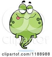 Cartoon Of A Happy Tadpole Mascot Royalty Free Vector Clipart by Cory Thoman