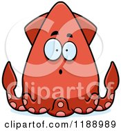 Cartoon Of A Surprised Squid Royalty Free Vector Clipart by Cory Thoman