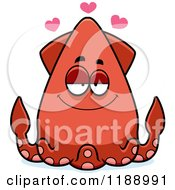 Cartoon Of A Loving Squid Royalty Free Vector Clipart by Cory Thoman
