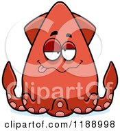Cartoon Of A Drunk Squid Royalty Free Vector Clipart by Cory Thoman