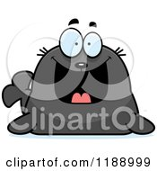 Cartoon Of A Happy Grinning Seal Royalty Free Vector Clipart
