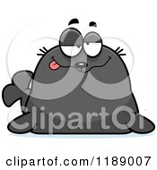Cartoon Of A Drunk Seal Royalty Free Vector Clipart by Cory Thoman