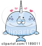 Cartoon Of A Loving Narwhal Royalty Free Vector Clipart by Cory Thoman