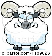 Cartoon Of A Mad Ram Mascot Royalty Free Vector Clipart