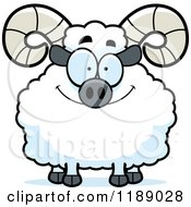 Cartoon Of A Happy Ram Mascot Royalty Free Vector Clipart by Cory Thoman