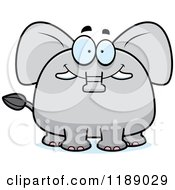 Cartoon Of A Happy Elephant Mascot Royalty Free Vector Clipart by Cory Thoman