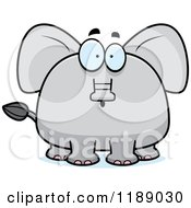 Cartoon Of A Surprised Elephant Mascot Royalty Free Vector Clipart
