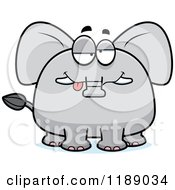 Cartoon Of A Drunk Elephant Mascot Royalty Free Vector Clipart