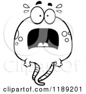 Cartoon Of A Black And White Scared Tadpole Mascot Royalty Free Vector Clipart by Cory Thoman