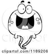Cartoon Of A Black And White Happy Grinning Tadpole Mascot Royalty Free Vector Clipart by Cory Thoman