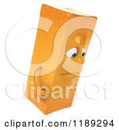 Clipart Of A 3d Sad French Fry Mascot Royalty Free CGI Illustration