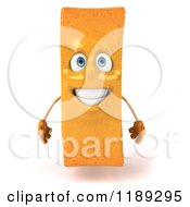 Clipart Of A 3d Happy French Fry Mascot Royalty Free CGI Illustration