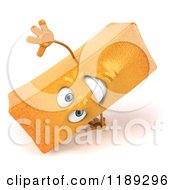 Clipart Of A 3d Happy French Fry Mascot Cartwheeling Royalty Free CGI Illustration