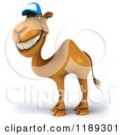 Clipart Of A 3d Camel Mascot Wearing A Baseball Cap Royalty Free CGI Illustration