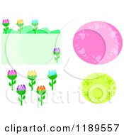 Ovals And Flowers