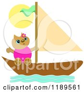 Happy Cat On A Sailboat